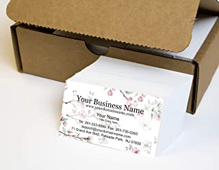 Simple Custom Premium Business Cards 500 Full color - Spring Buzz (129 lbs. 350gsm-Thick paper), Made in The USA