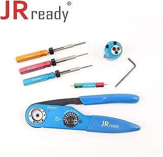 JRREADY ST1027 Crimp Tool Kit (YJQ-W2A Crimp Tool 12-26AWG & TH1A Turret Head & DRK12B Removal Tool & DRK16B Removal Tool & DRK20B Removal Tool &G125 go-no go gauge)