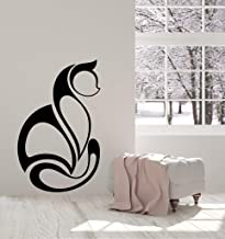 Schula Wall Decal Sticker Art Mural Home Decor Quote Abstract Art Cat Pet Animal Room