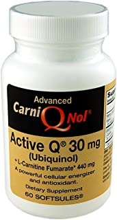 Qnol Bio-Enhanced Ubiquinol CoQ10 with 440 mg L-Carnitine Fumarate (60 Count Bottle)