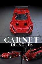 Carnet de notes: voiture de Sport rouge   pour les passionnés d'automobiles, de vitesse et de course   format 15 x 23 cm  ...