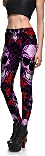 Hoyou Funky Print Skull Leggings for Women LuLaRoe Tribal Sexy Smooth Crazy Patterned Pants Slimming Girls by