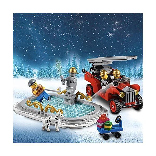 LEGO Creator Expert - Parque de bomberos navideño, divertido juguete de construcción con edificio (10263)