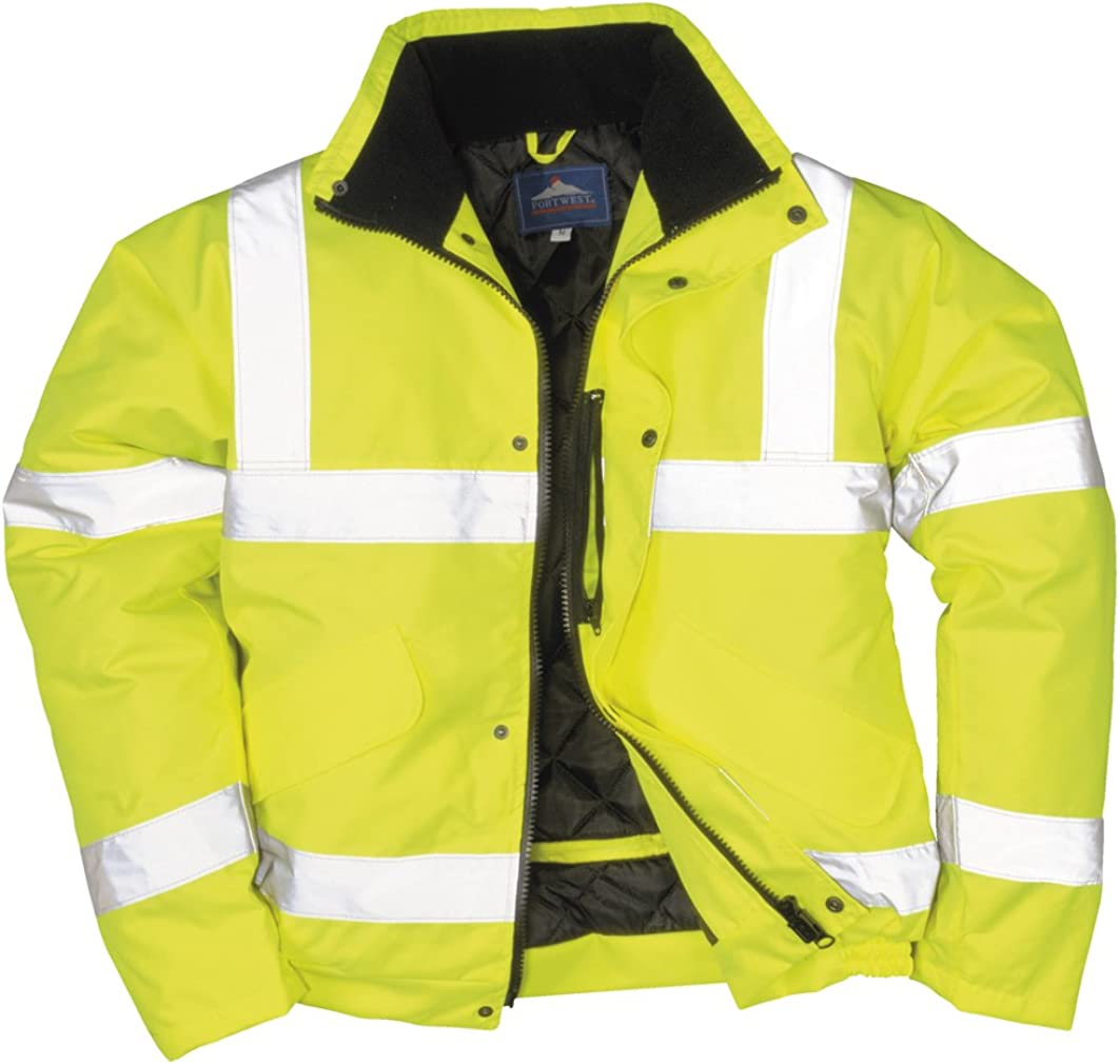 Crux Insulated Waterproof Bomber Jacket With Pack Away Hood Portwest
