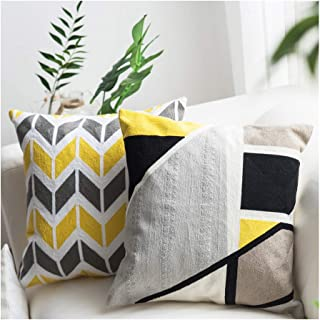LANANAS Throw Pillow Covers Modern Decorative Geometric Home Cushion Cover for Couch Sofa Bed 18 Inch Set of 2 (18