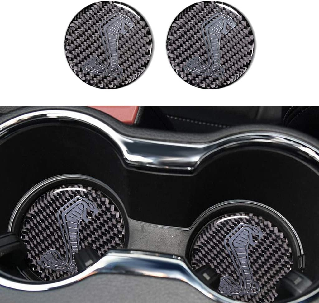 TopDall Carbon Fiber Shelby Beauty products GT Tucson Mall Cup Co Coaster Holder Mat Sticker