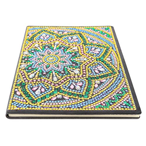 Cuaderno de pintura de diamante, para manualidades con cristales de forma especial, 50 páginas, inalámbrico, A5, regalo de cumpleaños (Mandala BY020)