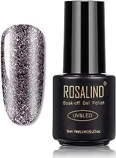 ROSALIND Shiny Nail Glitter Platinum Gel Nail Polish Hybrid Varnish Painting Shiny Gel Nail Art UV Top Base Primer For Manicure (RAA404)