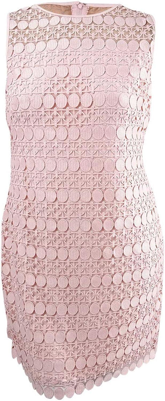 Lauren Ralph Lauren Womens Crochet Sleeveless Party Dress