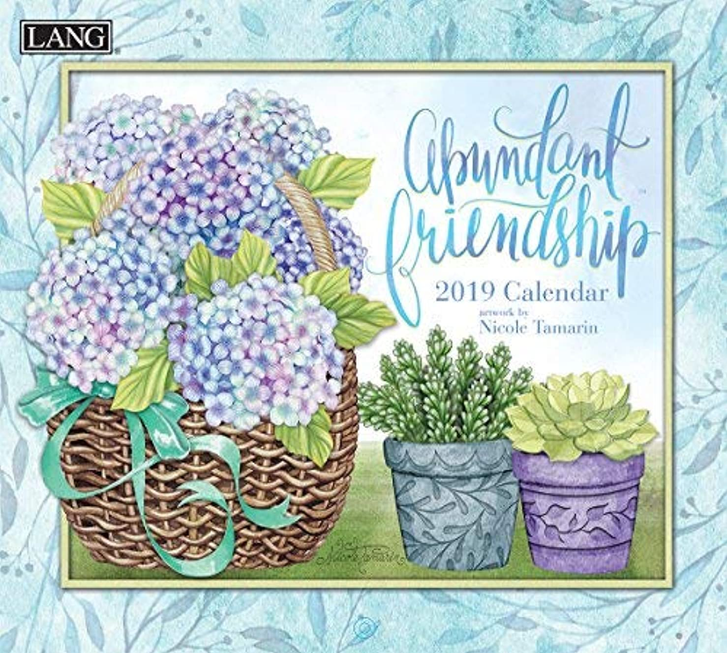 汚染うるさい消防士Lang Abundant Friendship 2019 Wall Calendar Office Wall Calendar (19991002005) [並行輸入品]