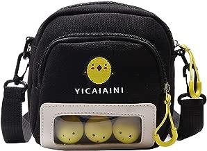Aimik Lovely Shoulder Bag, Contrast Color Canvas Bag Versatile Zipper Shoulder Messenger Bag, with Cute Chick Logo, Best Gift for Children Teenager, Student