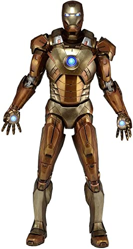 Avengers 1 4 Scale Figure Iron Man Midas Version (Gold Armor) by NECA