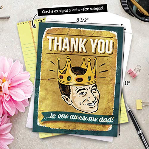 NobleWorks - Jumbo Fathers Day Card Funny (8.5 x 11 Inch) - Hilarious Greeting Notecard for Dads, Grandpa - Awesome Dad J0234 Photo #8