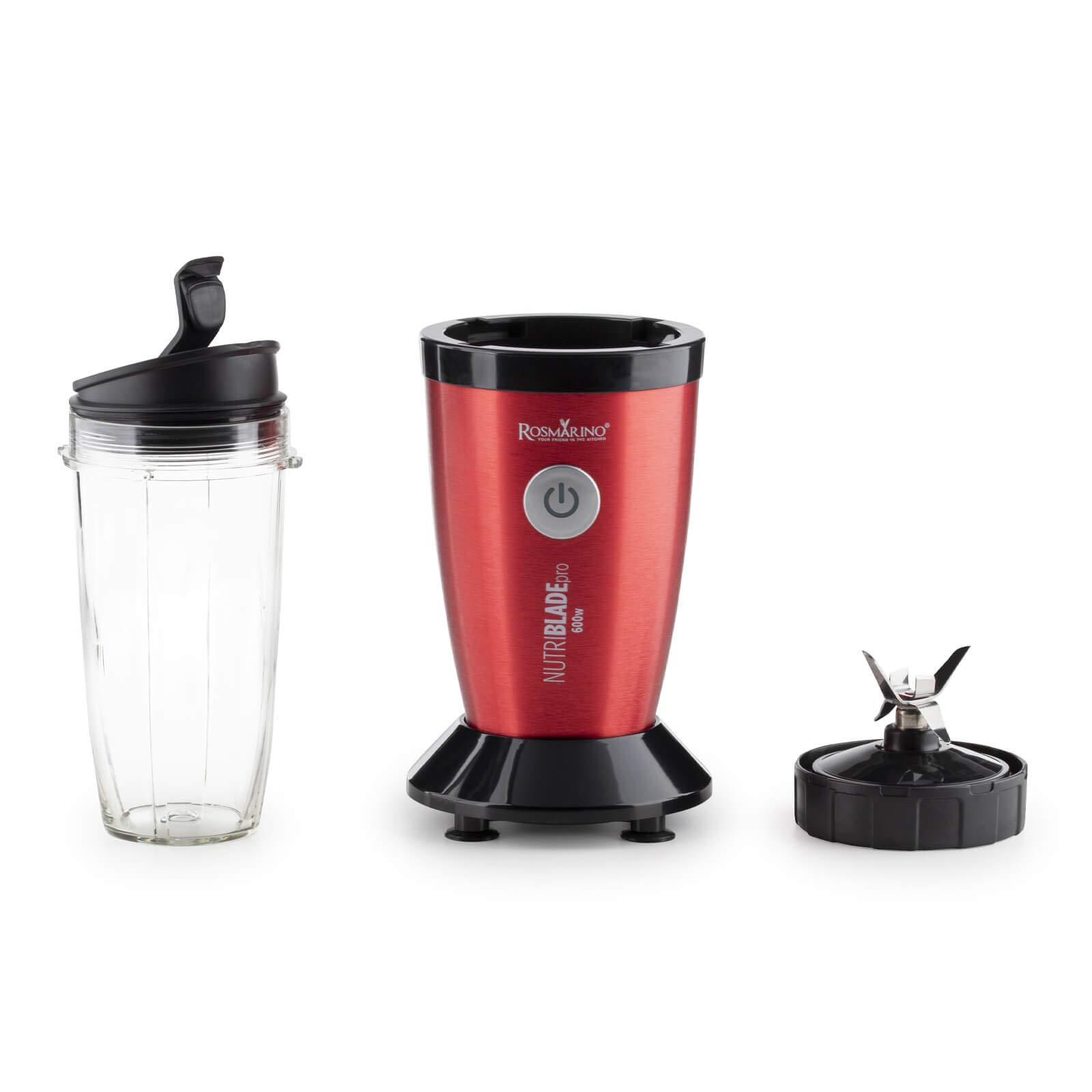 Rosmarino Personal Smoothie Blender & Smoothie Maker 700ml (23 oz.) with  Cup to Go - Perfect for Milkshake, Smoothies, Ice, Fruit & Vegetables  Drinks (Red): Amazon.co.uk: Kitchen & Home