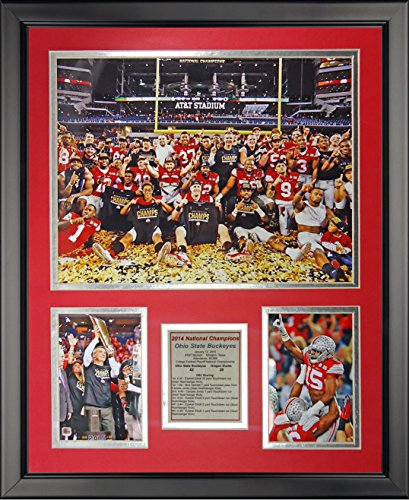 """Legends Never Die Ohio State 2014 CFP Football National Champion - Celebration - Framed Photo Collage, 16"""" x 20"""""""