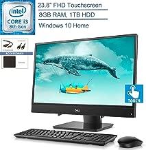 "$649 » 2020 Dell Inspiron 3480 23.8"" FHD Touchscreen All-in-One AIO Desktop Computer, 8th Gen Intel Core i3-8145U Beat i5-7200U, 8GB DDR4 RAM, 1TB HDD, Windows 10, YZAKKA Accessories"