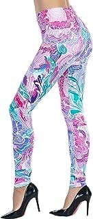 Women's Printed Leggings Full-Length Regular Size Workout Legging Pants Soft Capri L1