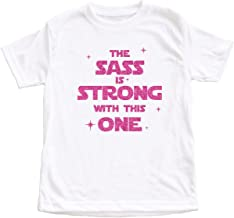 Dittoxpression Star Wars The Sass is Strong with This One Pink Glitter Unisex Baby Tshirt