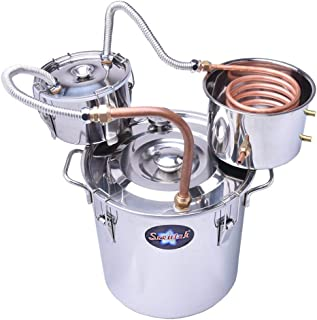 Suteck 8 Gal Moonshine Still Spirits Kit 30L Water Alcohol Distiller Copper Tube Boiler Home Brewing Kit with Thumper Keg Stainless Steel