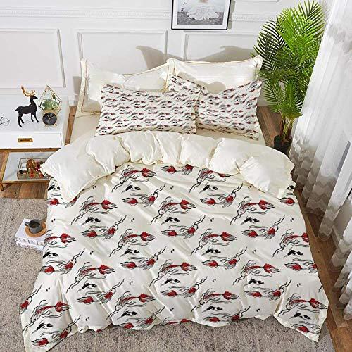 ropa de cama - Juego de funda nórdica, decoración industrial, cierre de...