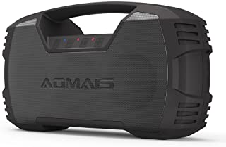 AOMAIS GO Bluetooth Speakers,Waterproof Portable Indoor/Outdoor 30W Wireless Stereo Pairing Booming Bass Speaker,30-Hour Playtime with 8800mAh Power Bank,Durable for Pool Party,Beach,Camping(Black)