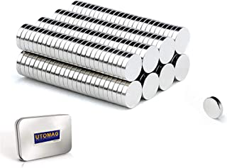 Aimants Néodyme Puissants, 5mm x 1mm Disc Terres Rares Petits Ronds Magnet pour Réfrigérateur, Frigo Surfaces Magnétiques,...