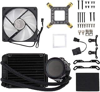 ASHATA Ventilador de enfriamiento,Jonsbo TW2-120 Agua CPU Enfriador Radiador RGB LED Ventilador de enfriamiento para Intel AMD Ventilador de enfriamiento de la Impresora 3D Equipado