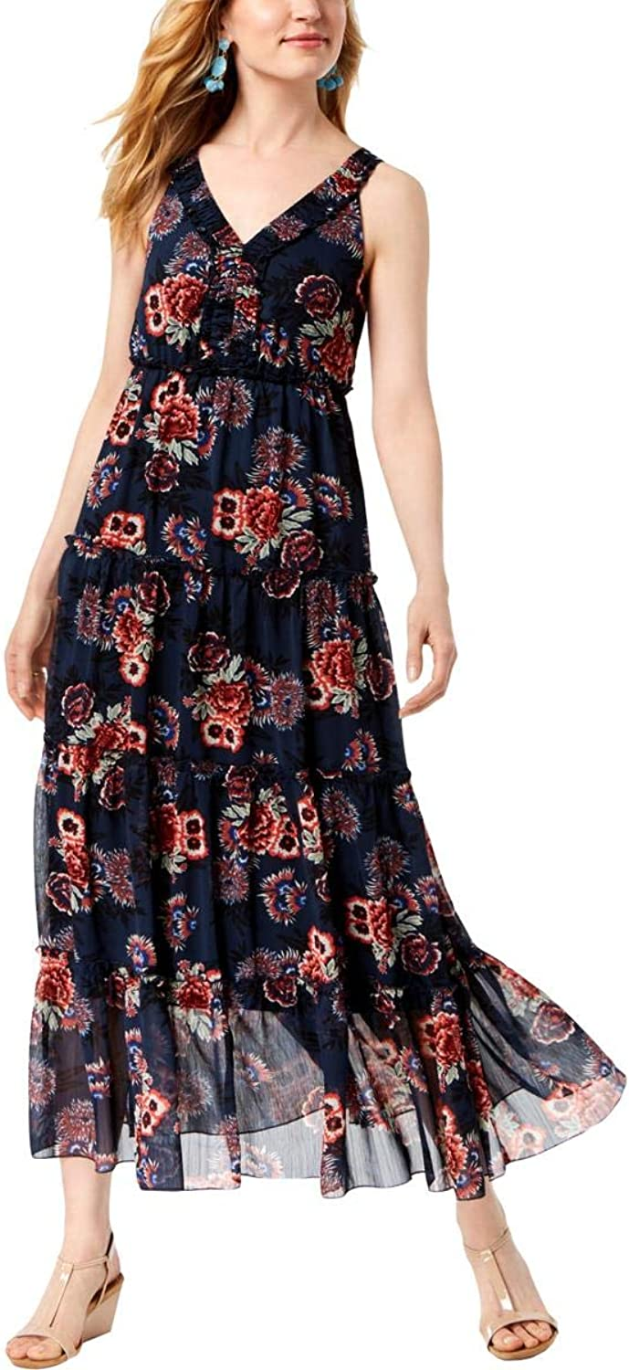 Style & Co. Womens Floral Sleeveless Maxi Dress