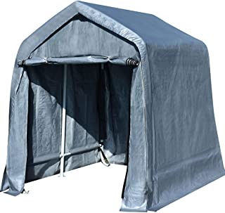 Quictent 10'X10' Heavy Duty Garage Carport ATV Shelter Storage Tent with Auger Anchors and Ratchets