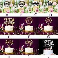 New Birthday Cake Topper Insert Card 2018 Graduation Acrylic Cake Decoration Wedding Birthday Party Lovely Gift Favor HotSale#30 : United States, H