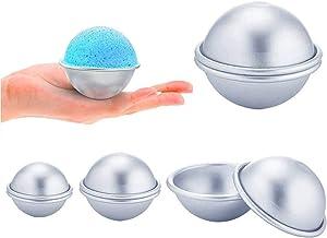 Xinlie Bad Bombe Form Aluminium Bath Bomb Kuchen Molds Bath Bomb Mold Kit DIY Seifenform Seifenform für Hausgemachte Badebomben und Basteln Sie Ihre Eigenen Fizzles für Handwerk 8 Stück