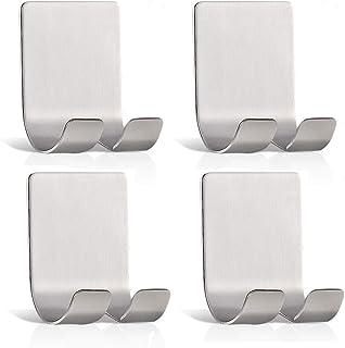 4 Packs Razor Holder for Shower, Veriya Waterproof Self Adhesive Shower Hooks Shaver Holder, Heavy Duty Razor Hooks Phone ...