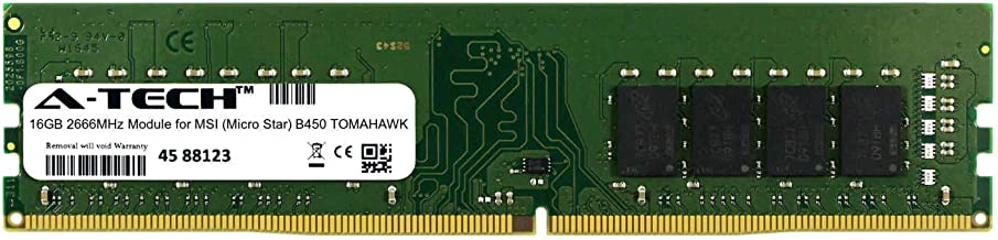 A-Tech 16GB Module for MSI (Micro Star) B450 Tomahawk Desktop & Workstation Motherboard Compatible DDR4 2666Mhz Memory Ram...