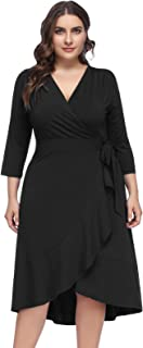 Best black wrap dress plus size Reviews