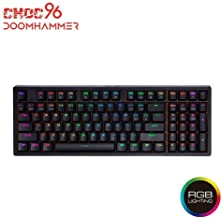 Doomhammer Choc 96 Wired Mechanical Gaming Keyboard - True RGB Backlit, Hot Swappable Key switches, NKRO (Brown Switches (RGB), Black)