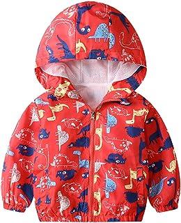JinBei Niños Cazadora Niño Bebes Casual Chaqueta Primavera Y Otoño Abrigo Fino Cartoon Impresión Corto Chaqueta A Prueba D...