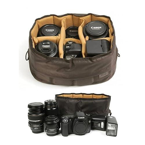 4a9fbf380 Ciesta Flexible Camera Insert Partition for DSLR SLR Lens (Brown   Medium)