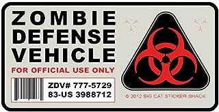 1 Pack Amusing Zombie Defense Vehicle Car Stickers Vinyl Wall Art Sticker Decals Splendid Popular Funny Dragon Love Life Army Flag Family Men Gay Window Decor