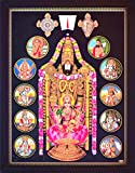 Lord Venkateswara in Various Posture (Roopa), Balaji and Incarnation of Vishnu, A HinduReligious Poster Painting for Wealth. Prosperity and Good Luck at Home/Work Place
