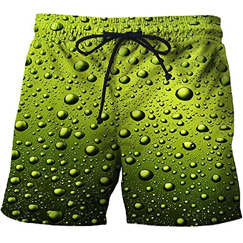 Yajun Bañador de Verano Pantalones Cortos de Playa Casuales 3D PTraje de Baño Cómodos de Fitness para Hombres Boardshorts Deportivos de Hip-Hop a la Moda,A,XL