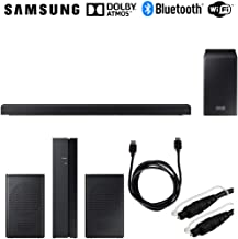 Samsung HW-Q60R 360W Virtual 5.1-Channel Soundbar System + Rear Speakers Bundle Includes, SWA-8500S/ZA Wireless Rear Speakers Kit, 6ft HDMI Cable & 6ft Optical Toslink 5.0mm OD Audio Cable