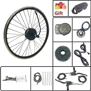 L-faster Kit conversione Bici 24V36V 450W per rotore Freno a Disco Kit Motore Bicicletta Montaggio Fianco Sinistro con acceleratore a Pollice
