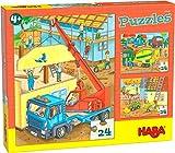 HABA-305469-Puzzles en Las Obras puzle Infantil, Multicolor (305469)