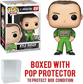 POP! Sports Nascar Kyle Busch #8 Action Figure (Bundled with Pop Box Protector to Protect Display Box)