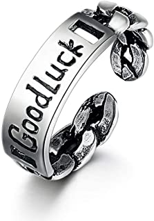 Lozse Anelli regolabili Anello in argento placcatura anti allergia anello regalo di compleanno per gli amici e la famiglia...