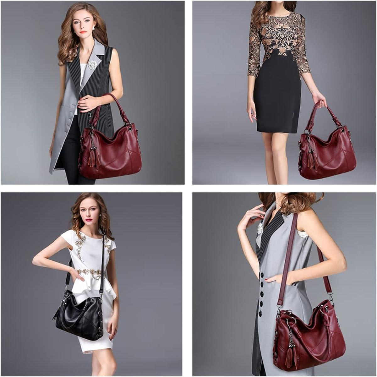 Women Hobo Bag Large Soft Shoulder Bags Designer Leather Handbag Purse Tote with Detachable Long Strap