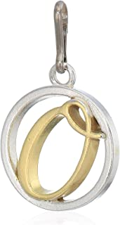 Alex and Ani Women's Initial O Two Tone Charm Sterling Silver, Expandable
