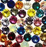 144 Swarovski 2058 Xilion / 2088 Xirius 30ss crystal flatback rhinestones ss30 mix colors 6.4mm from Mychobos (Crystal-Wholesale)