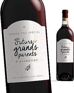 Etiquette bouteille grands parents | Futurs grands-parents - Bébé est en route | Etiquette vin Annonce Naissance - Futur p...