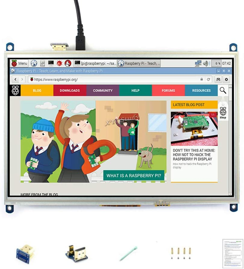 10.1 inch 1024×600 Resistive Touch Screen HDMI Interface LCD Raspbian Ubuntu Driver Mini PC Computer Monitor Supports Raspberry Pi 3 2 Model B B+ @XYGStudy